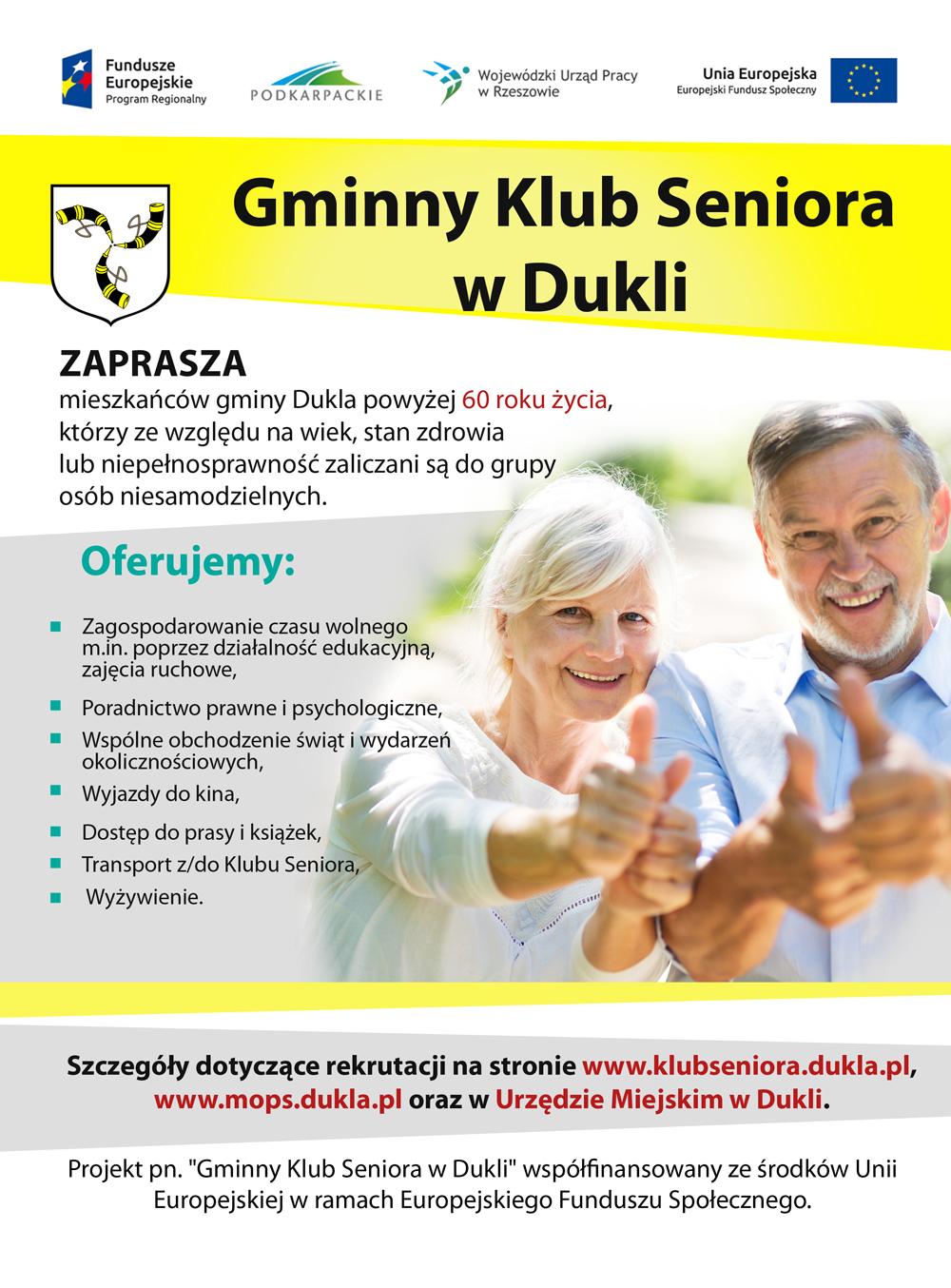 Zaproszenie do Gminnego Klubu Seniora