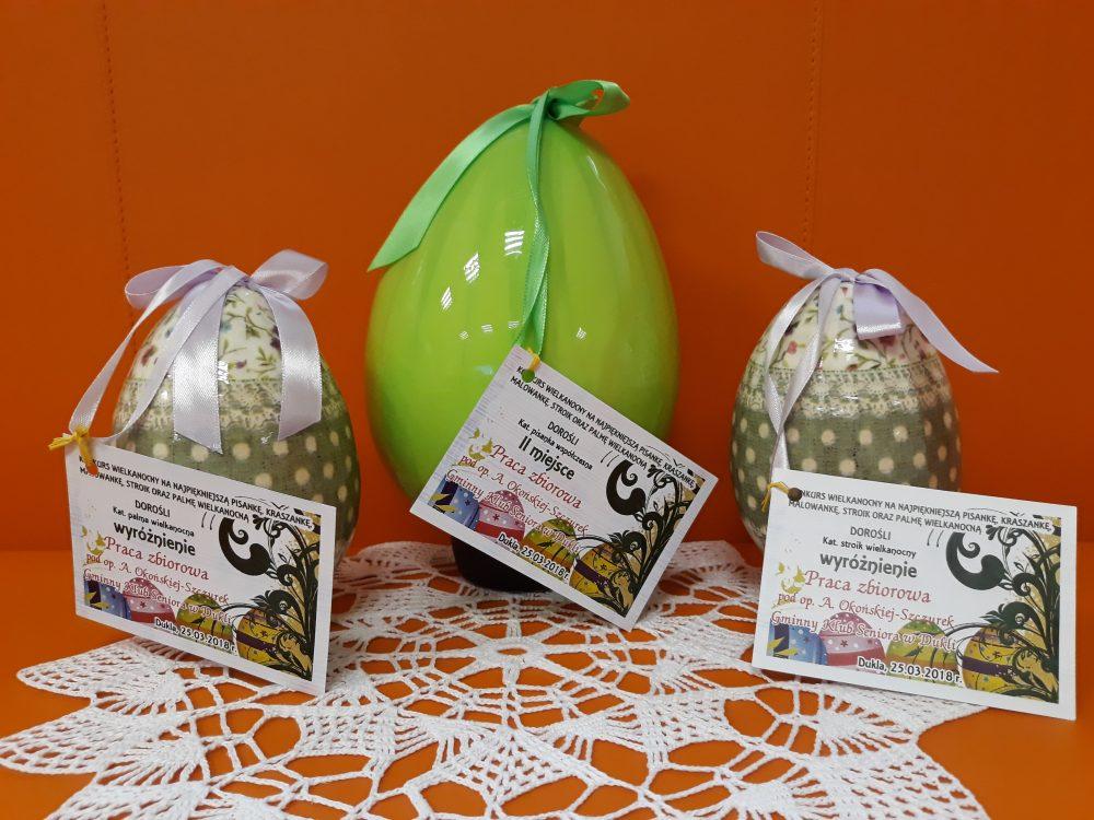 Nagrody za udział w Konkursie Wielkanocnym